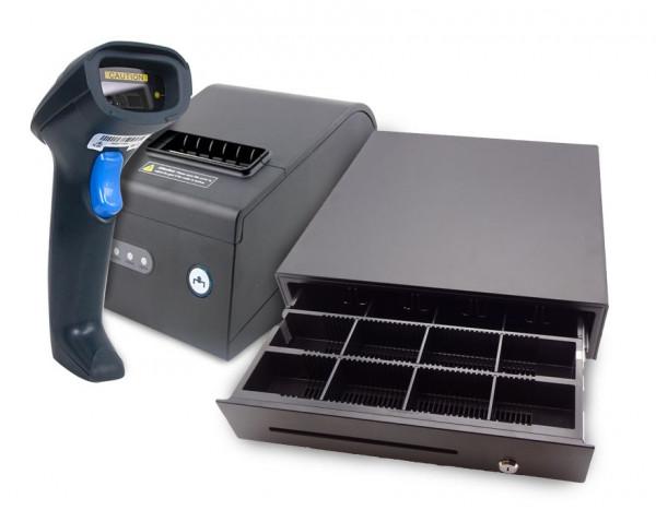 Hardwarebundle: Barcode-Scanner, Kassenlade und Bondrucker
