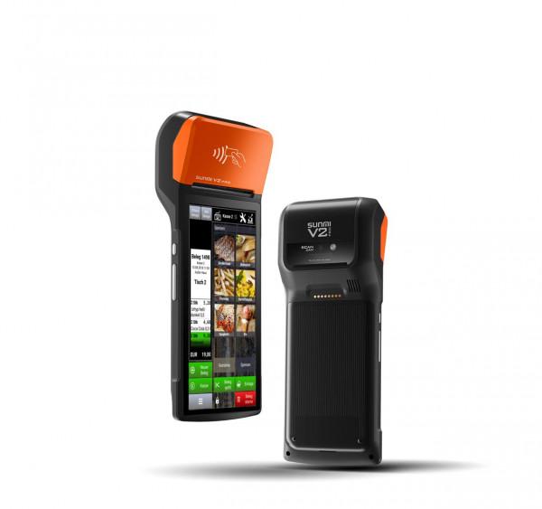 Kasse Sunmi V2 PRO POS mobiles Android Terminal mit Drucker, Barcodeleser und NFC, 4G