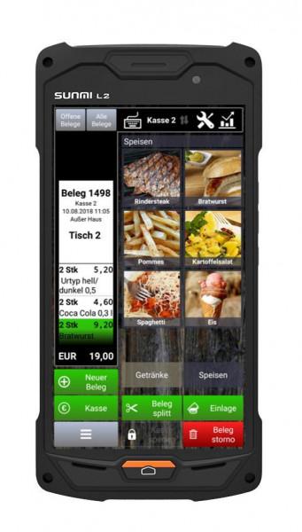 "Kasse Sunmi L2, Mobiles Tablet / Handheld, inkl. Barcodescanner , 16 GB ROM, 2 GB RAM, mit 5"" Touchd"
