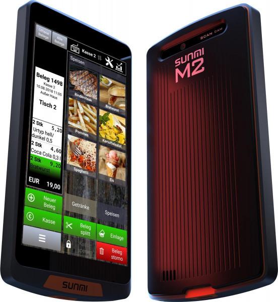 Kasse Sunmi M2 Android Handheld mit SIM (4G)