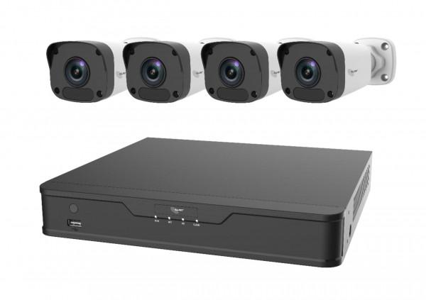 "IP Kamera Bundle-Set 4x Bullet & NVR ""ALL-CAM2400-NVR-Kit-B"""