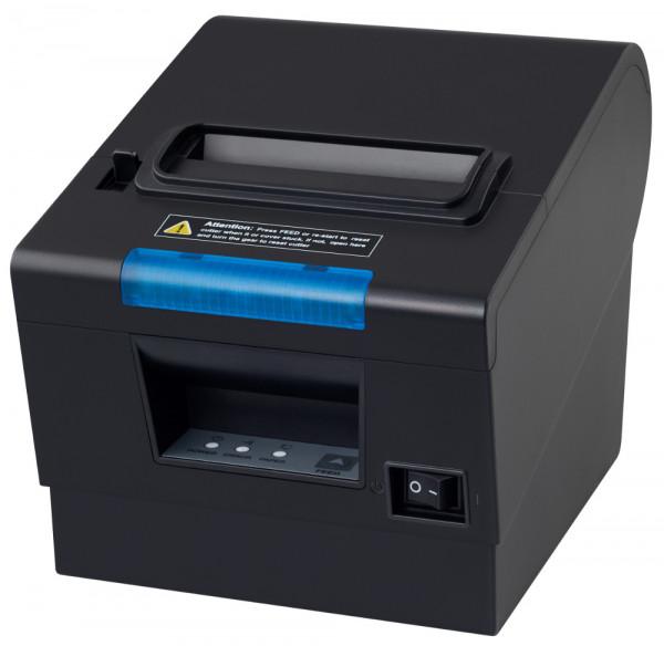 Kasse Küchendrucker / Bondrucker mit Warnsignal und blauer LED Signal Leiste, USB und LAN